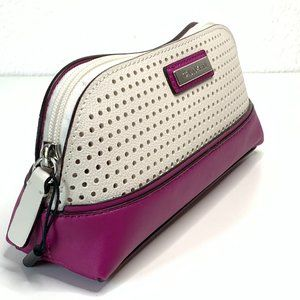 Calvin Klein Rose Purple and White Cosmetics Bag